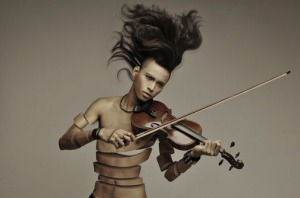 Exotic-musician-playing-violin