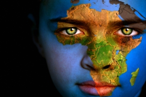 map-of-africa-painted-on-boy's-face