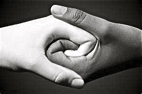black-and-white-hands-intertwined