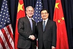 bush-shaking-hands-with-hu-jintao