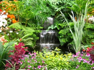 flower-gardens-with-waterfall