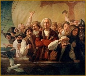 columbus-with-crew-on-ship