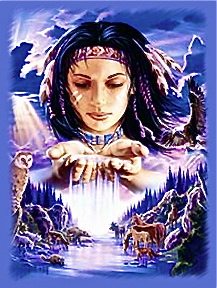 native-american-with-animals