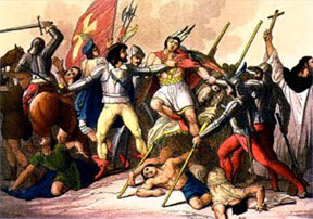 spaniards-killing -indians