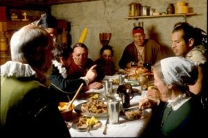 thanksgiving-dinner-pilgrims-and-indians