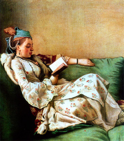 harem-woman-reading-book