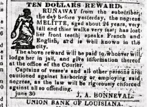 runaway-slave-reward-flyer