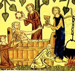 medieval-tub-bath-in-garden