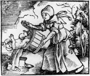medieval-woman-throwing-baby-out-with-bathwater